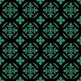 Curva rotonda del fondo della foglia verde senza cuciture antica della natura illustrazione di stock