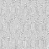 curva rotonda Dot Line di arte del Libro Bianco 3D Fotografia Stock