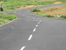 Curva só da estrada do trajeto Fotografia de Stock