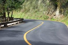 Curva stradale Fotografie Stock