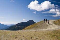 Curva stradale della montagna fotografia stock