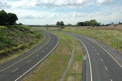 Curva vacía de la autopista Foto de archivo