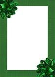 Curva verde do envolvimento de presente Fotografia de Stock Royalty Free