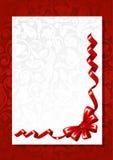 Curva vermelha com cartão Fotografia de Stock