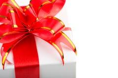 Curva vermelha da fita Imagem de Stock Royalty Free