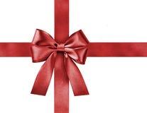 Curva vermelha da fita do cetim foto de stock royalty free