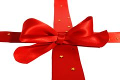 Curva vermelha decorativa Imagens de Stock