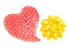 Curva vermelha do coração e do feriado Fotos de Stock Royalty Free
