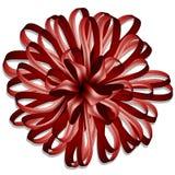 Curva vermelha do envoltório de presente Imagem de Stock Royalty Free