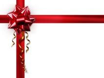 Curva vermelha em um fundo branco Imagem de Stock