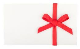 Curva vermelha em uma caixa branca ou em um envelope Imagens de Stock