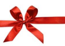 Curva vermelha em uma fita Fotografia de Stock Royalty Free