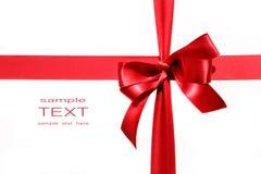 Curva vermelha grande do feriado no branco Imagens de Stock Royalty Free