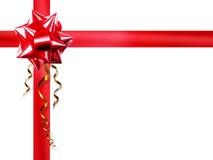 Curva vermelha no fundo branco Imagem de Stock Royalty Free