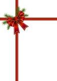 Curva vermelha para um presente de Natal Fotografia de Stock Royalty Free