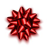 Curva vermelha realística isolada do cetim para o presente Imagem de Stock
