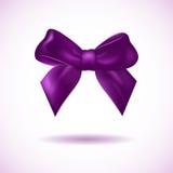 Curva violeta isolada no branco Imagem de Stock Royalty Free