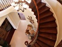 Curvando escadas Imagem de Stock