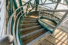 Curvando escadas de cima de Imagem de Stock Royalty Free