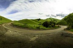 Curvar el camino en Livermore California Fotos de archivo libres de regalías