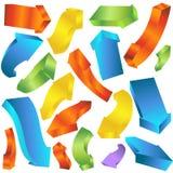 Curvar las flechas gruesas 3D Imagen de archivo libre de regalías