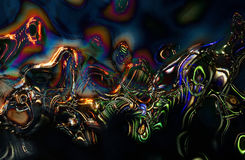Curvas abstractas del fondo coloreadas foto de archivo