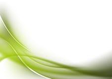 Curvas abstractas del verde del fondo Fotos de archivo