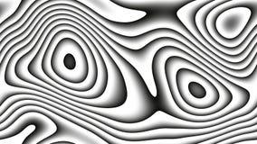 Curvas abstractas - líneas paramétricas y formas curvadas 4k inconsútiles stock de ilustración