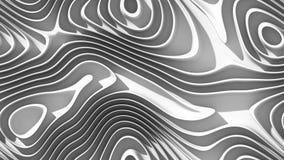Curvas abstractas - líneas paramétricas y formas curvadas 4k inconsútiles ilustración del vector