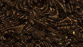 Curvas abstractas - líneas y formas curvadas paramétricas de oro 4k s imagen de archivo libre de regalías
