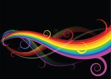 Curvas abstratas do arco-íris ilustração do vetor