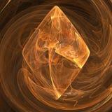 Curvas amarelas das nuvens da hélice da vertigem giradas para o contexto futurista do fractal do diamante ilustração stock