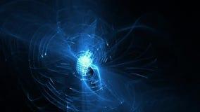 Curvas azules en fondo oscuro ilustración del vector
