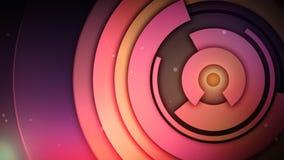 Curvas calificadas Rotación de círculos rosados y púrpuras