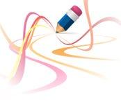 Curvas coloridas abstractas Foto de archivo