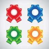 Curvas coloridas da fita Fotografia de Stock
