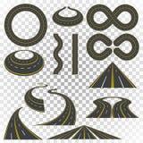 Curvas da estrada ajustadas ilustração royalty free