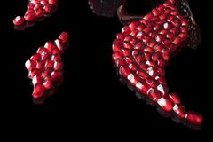 Curvas da semente da romã Fotos de Stock Royalty Free