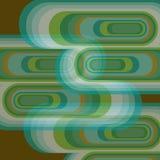 Curvas de fulgor branco retros Imagem de Stock Royalty Free