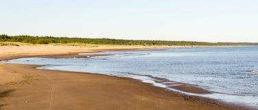 Curvas de la costa costa por mañana del verano Imágenes de archivo libres de regalías