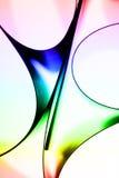 Curvas de papel coloridas abstratas Fotografia de Stock
