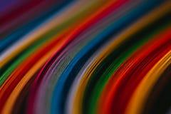 Curvas de papel quilling coloreadas fotografía de archivo libre de regalías