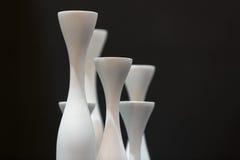curvas de vasos vazios em preto e branco Foto de Stock Royalty Free