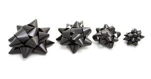 Curvas decorativas pretas Foto de Stock