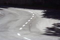 Curvas del camino Imagenes de archivo