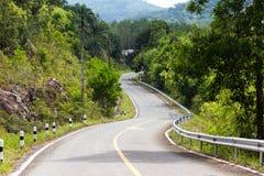 Curvas del camino Foto de archivo libre de regalías