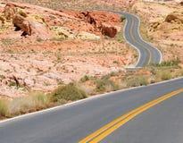 Curvas do deserto Foto de Stock