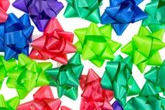 Curvas do Natal no fundo branco Fotografia de Stock