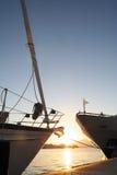 Curvas dos barcos Fotos de Stock Royalty Free