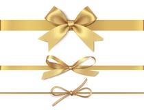 Curvas douradas bonitas para a decoração da página ilustração do vetor